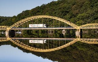 France reflecting bridge