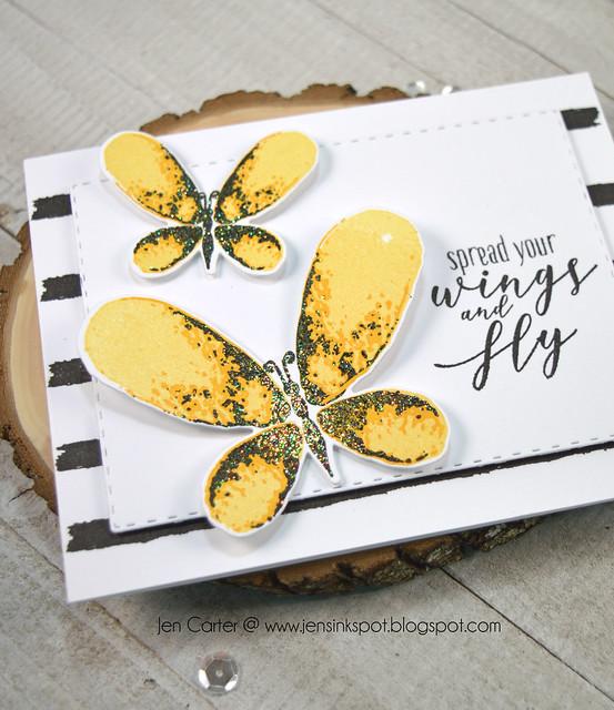 Jen Carter Spread Wings Faithful Flutterings Yellow Closeup