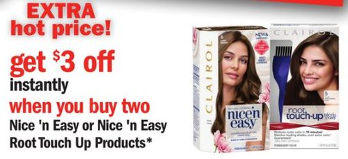 graphic regarding Printable Hair Color Coupons identify Cost-free Clairol Hair Colour at Meijer with COupon and Ibotta