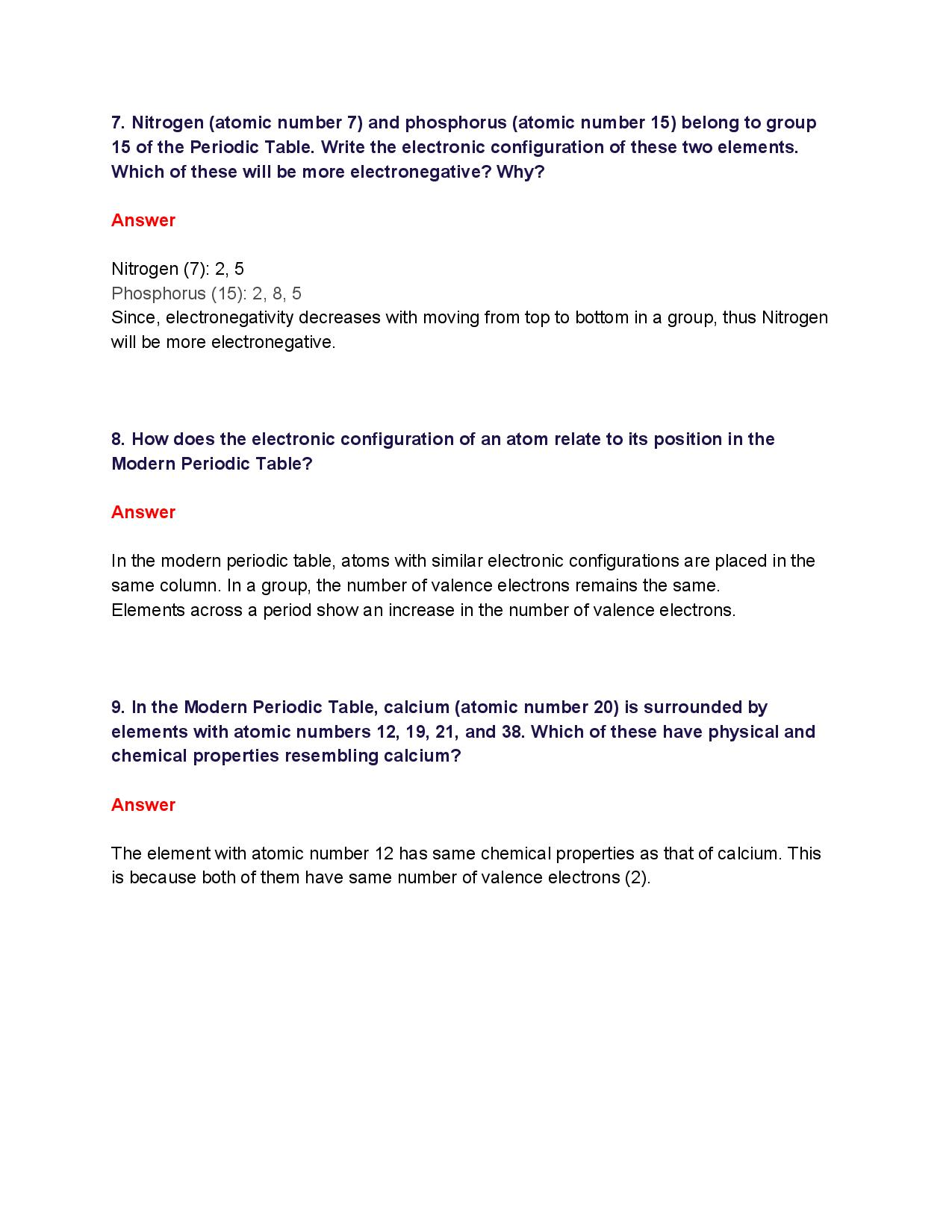 NCERT Solutions for Class 10th_ Ch 5 Periodic Classification of Elements Science-page-008
