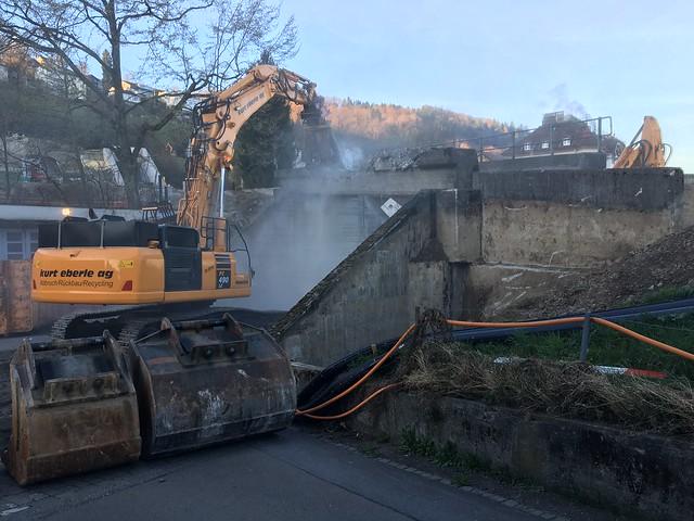 Abbruch Brücke Oberstrasse