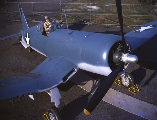 Vought F4U-1 Corsair Test pilot Lyman Bullard 1942.