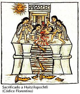 Sacrificio humano a Huitzilopochtli
