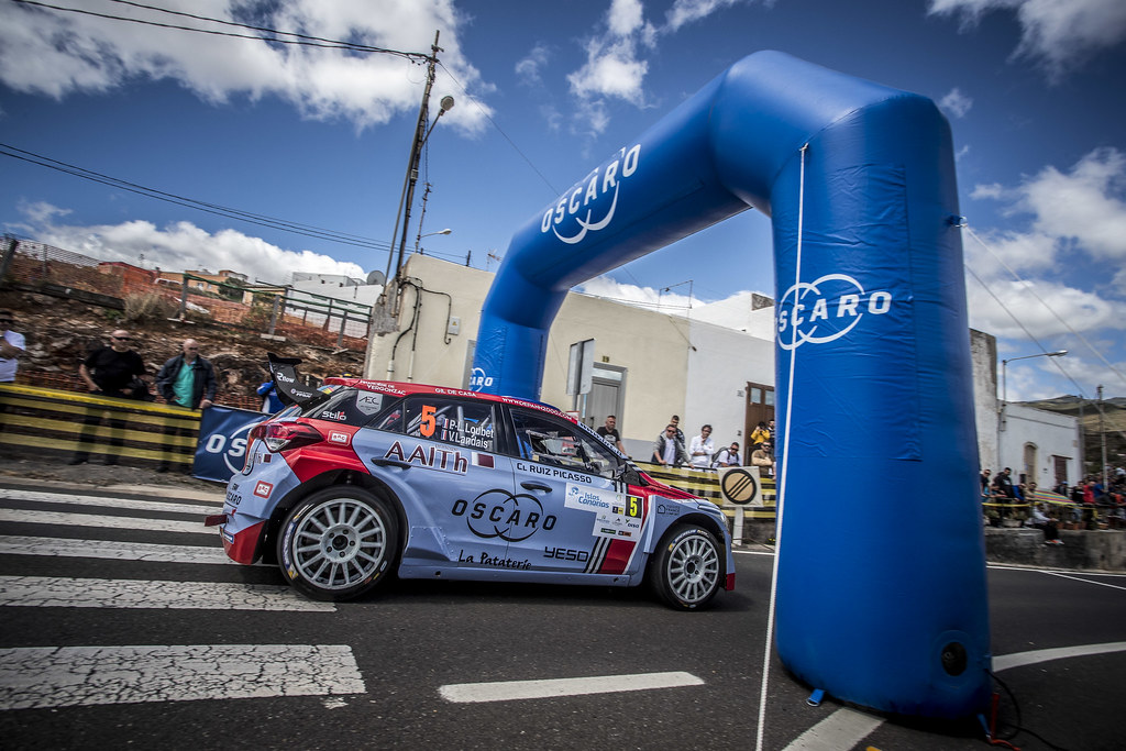 05 LOUBET Pierre louis (fra), LANDAIS Vincent (fra), BRC RACING TEAM, HYUNDAI I20 R5, action during the 2018 European Rally Championship ERC Rally Islas Canarias, El Corte Inglés,  from May 3 to 5, at Las Palmas, Spain - Photo Gregory Lenormand / DPPI