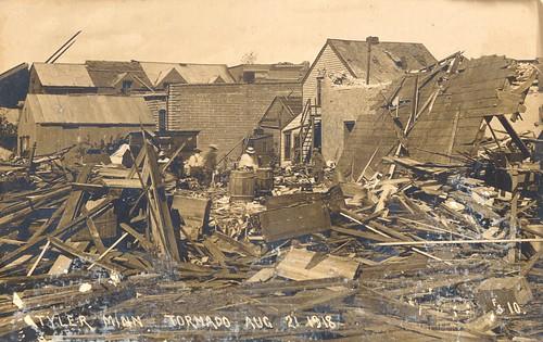 rppc tornado 1918 vintage postcard minnesota cityinruins