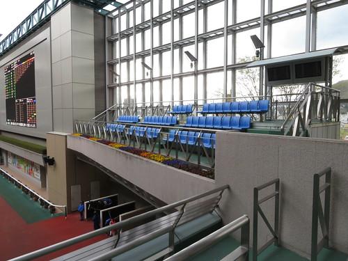 福島競馬場のパドック3階にある関係者用席?