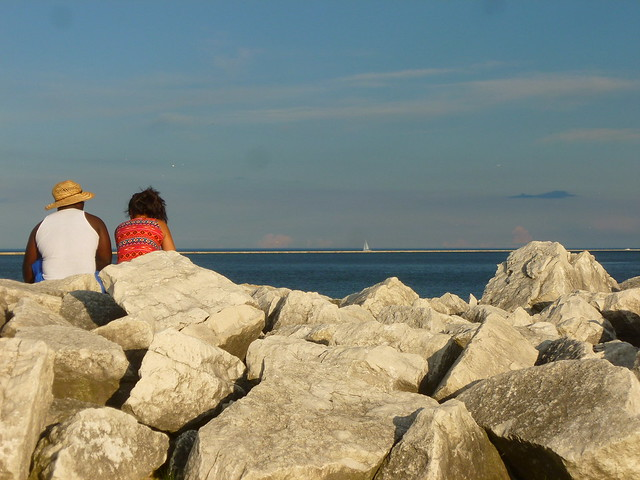 Enjoying the view - Lakeshore State Park, Milwaukee, WI