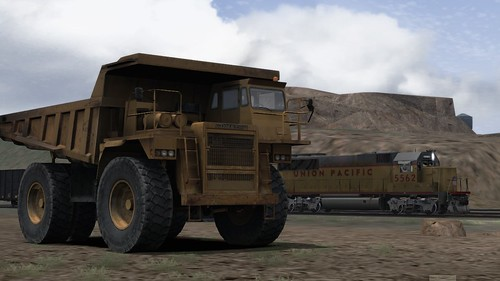 A Mine Truck and a GP50