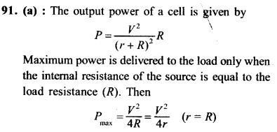 NEET AIPMT Physics Chapter Wise Solutions - Current Electricity explanation 91