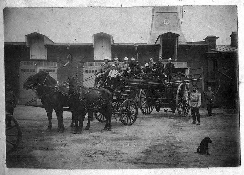 Пожарные лестницы XIX века