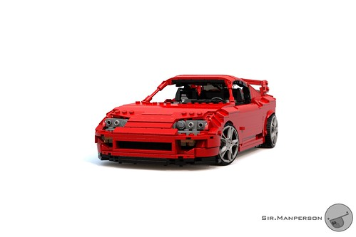 Toyota Supra front 3/4 - 16-wide - Lego