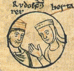 Rudolph III of Burgundy nd his sister Bertha