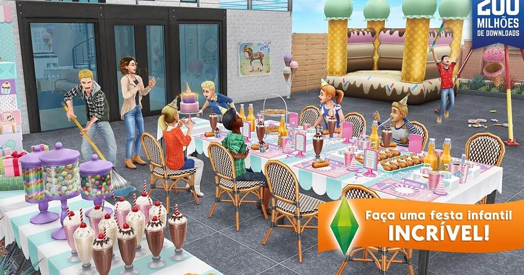 Foto de Atualização The Sims FreePlay – Festa Infantil