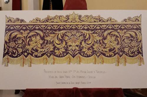 Proyecto del nuevo palio bordado de la Virgen del Mayor Dolor y Traspaso de la Hermandad de Gran Poder