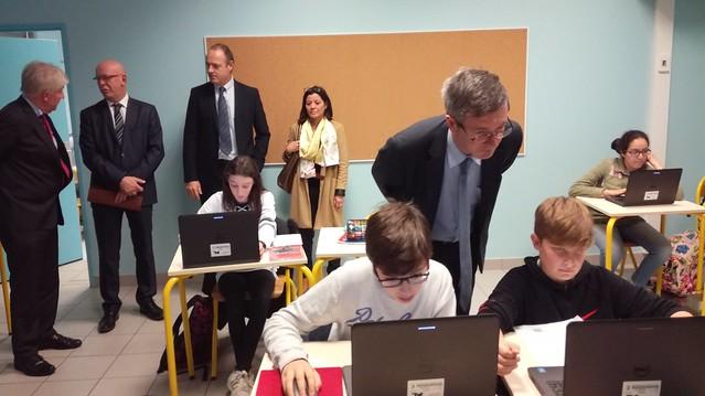 Visite au collège Victor Duruy à Mont-de-Marsan: dispositif « Devoirs faits »