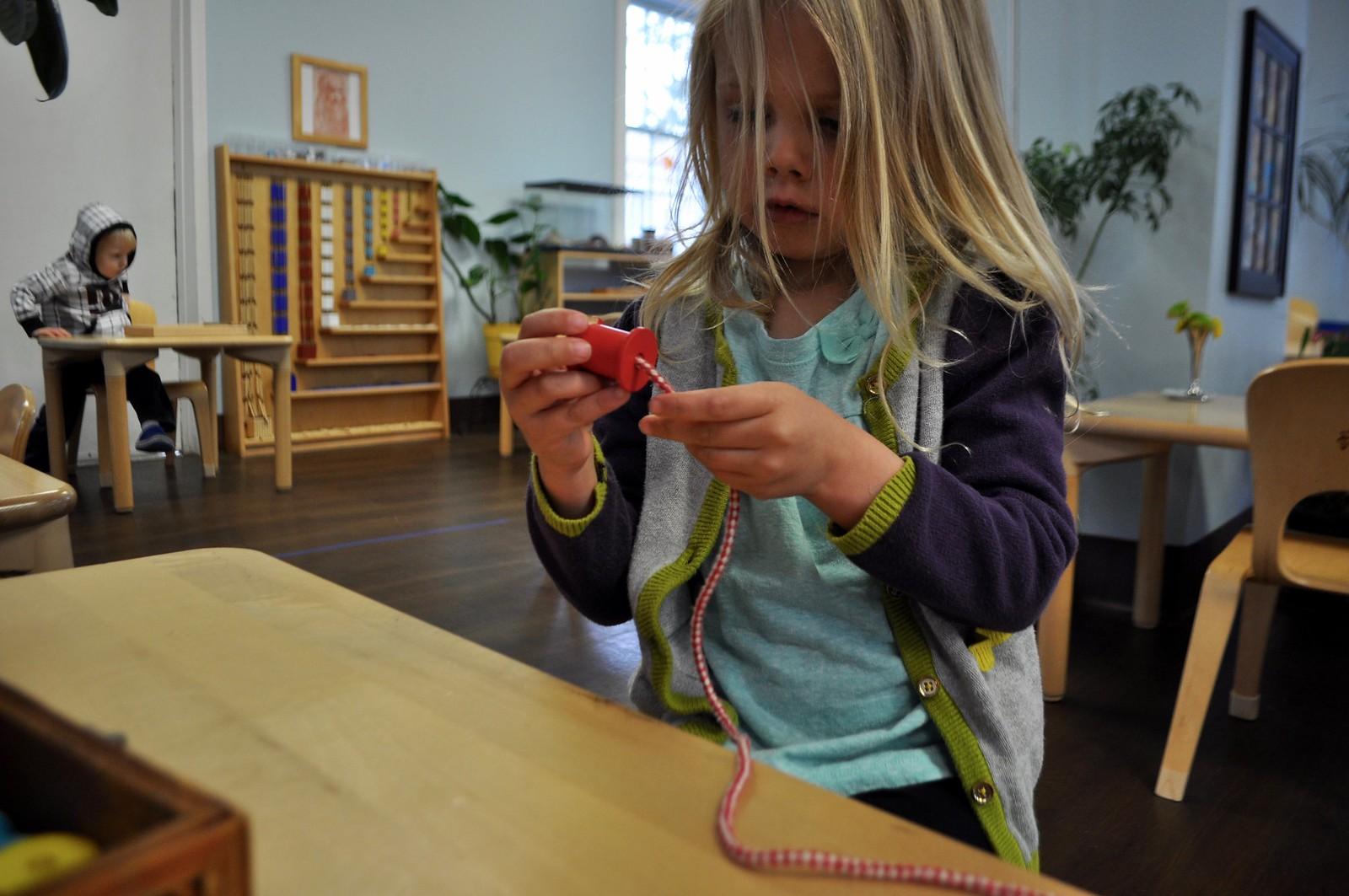 Practical Life Bead Stringing Villa Di Maria Montessori School Blog