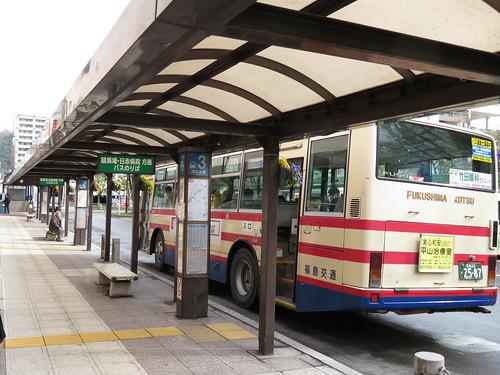 福島駅から福島競馬場へ向かう路線バス