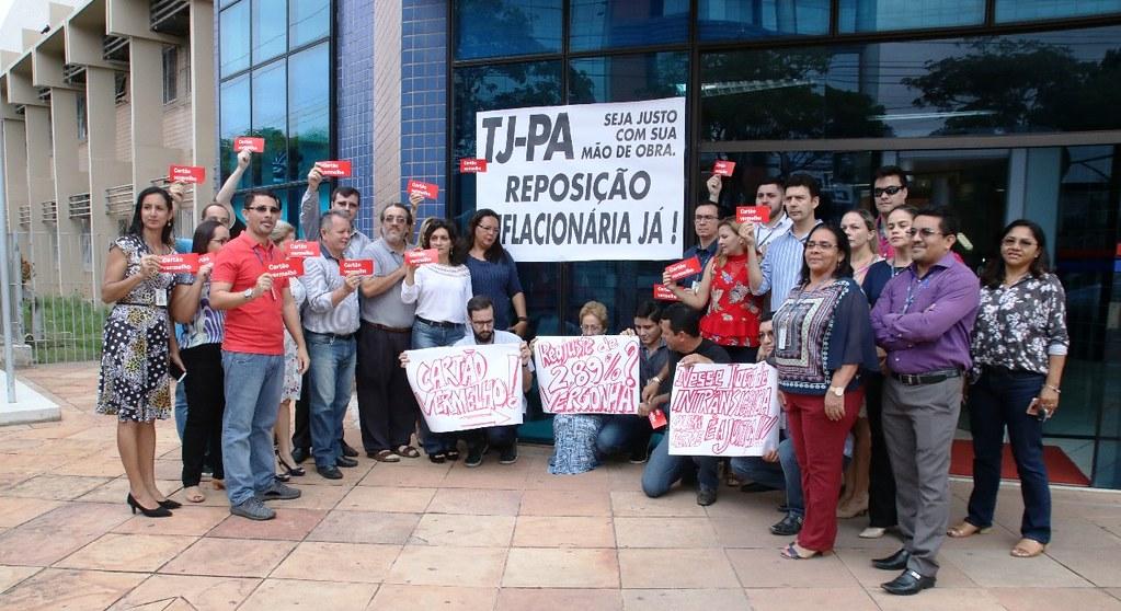 Reajuste salarial abaixo da inflação desagrada servidores do TJ do Pará, Fórim de Santarém