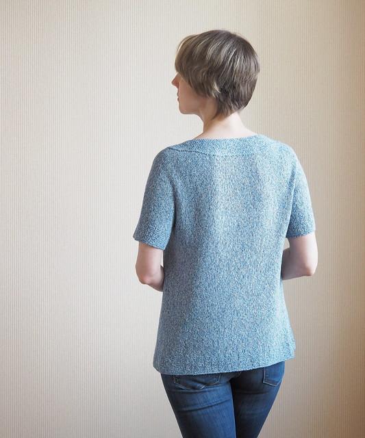 Blue Silk Top