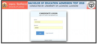 UP BED admit Card Login