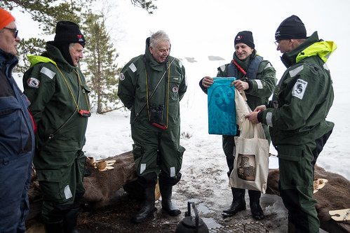 Presidentti Niinistö osallistui norppalaskentaan Saimaalla torstaina 5. huhtikuuta 2018.