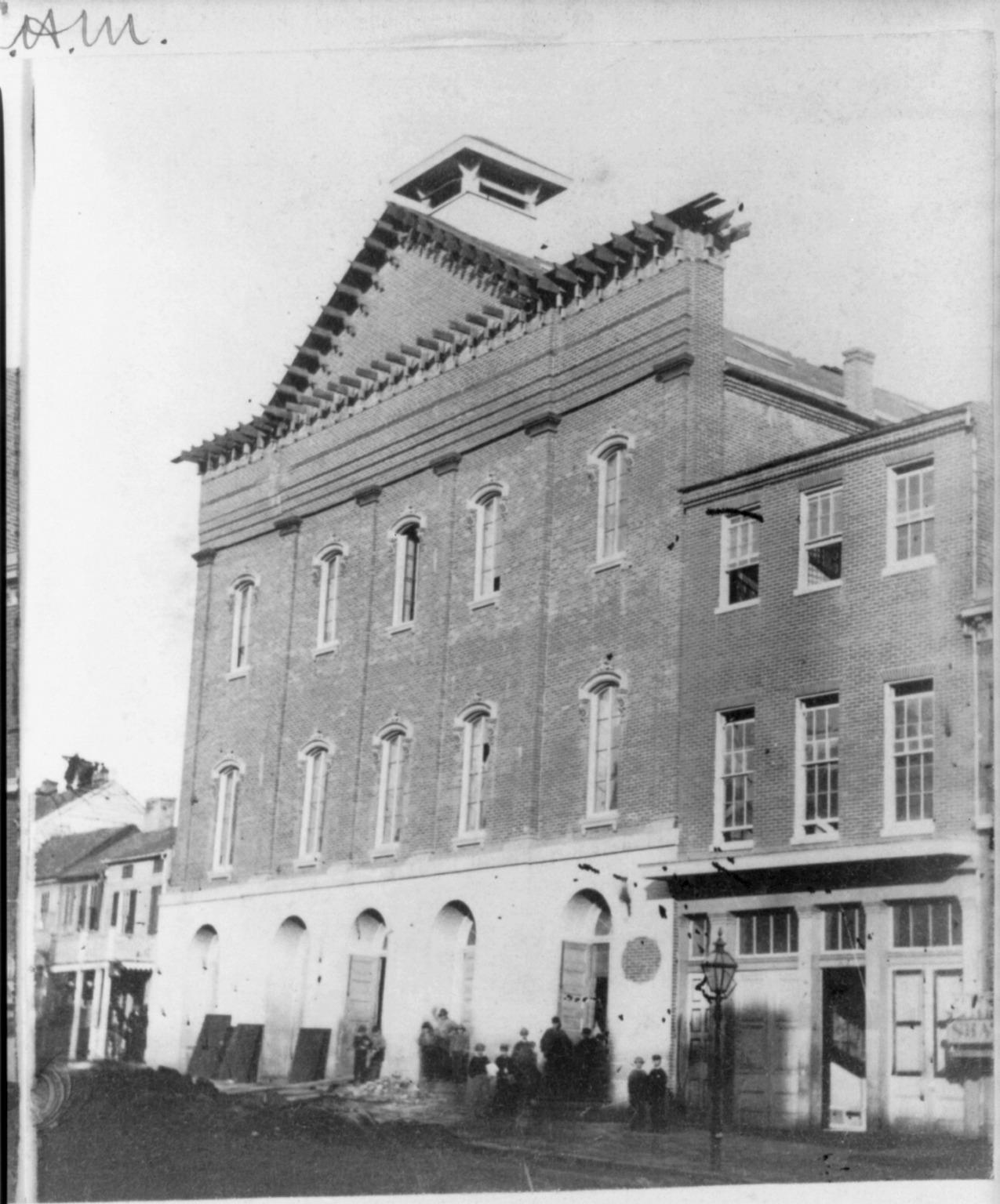 Ford's Theatre. Washington City, circa 1865.