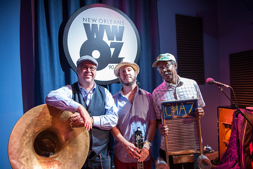 Tin Men at WWOZ on Day 1 of French Quarter Fest - April 12, 2018. Photo by Michael E. McAndrew Photography.