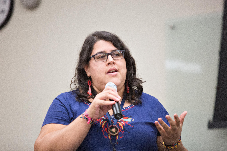 Eleana Borjas de Radio Progreso, Honduras. (Foto: Mary Kang).