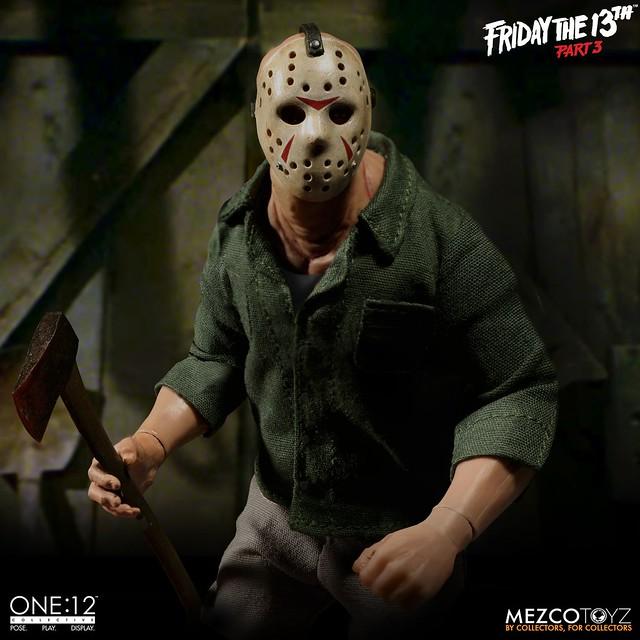 揮之不去的惡夢再開!! MEZCO ONE:12 COLLECTIVE 系列《十三號星期五3》傑森·沃爾希斯 Jason Voorhees from Friday The 13th Part 3 1/12 比例人偶作品