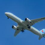 a korean air 787 arriving from incheon