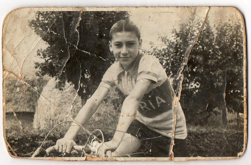un giovanissimo Widmer (foto inviata dal figlio Marco)