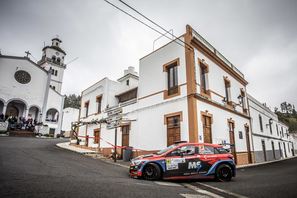 23 ZAWADA Ales, DACHOWSKI Grzegorz, team Aleks Zawada, Hyundai i20 R5, action during the 2018 European Rally Championship ERC Rally Islas Canarias, El Corte Inglés,  from May 3 to 5, at Las Palmas, Spain - Photo Gregory Lenormand / DPPI