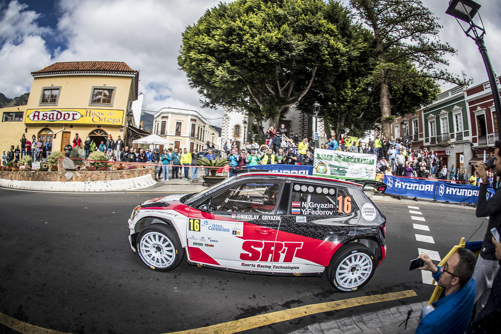 16 GRYAZIN Nikolay FEDOROV Yaroslav, Sports Racing Technologies, Skoda Fabia R5, action during the 2018 European Rally Championship ERC Rally Islas Canarias, El Corte Inglés,  from May 3 to 5, at Las Palmas, Spain - Photo Gregory Lenormand / DPPI
