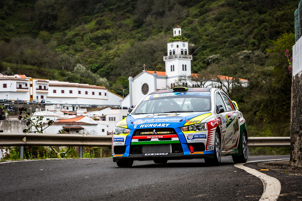 29 ERDI jr  TIBOR, PAPP Gyorgy, MITSUBISHI LANCER EVO X, action during the 2018 European Rally Championship ERC Rally Islas Canarias, El Corte Inglés,  from May 3 to 5, at Las Palmas, Spain - Photo Thomas Fenetre / DPPI