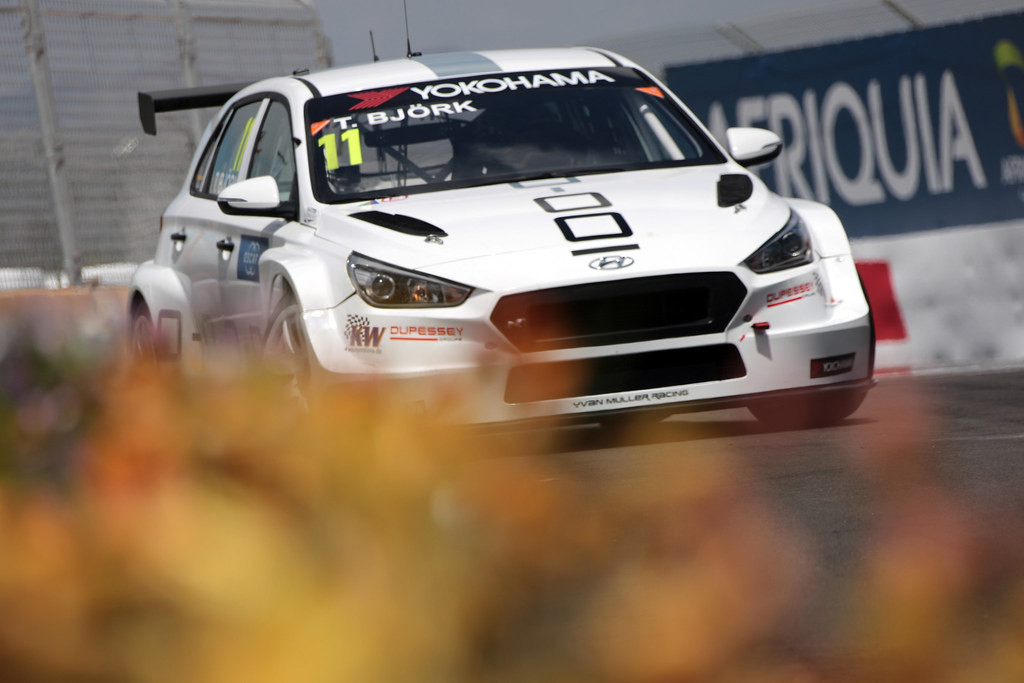 11 BJORK Thed (SWE), YMR, Hyundai i30 N TCR, action during the 2018 FIA WTCR World Touring Car  Cup Race of Morocco at Marrakech, from April 7 to 8th - Photo Paulo Maria / DPPI
