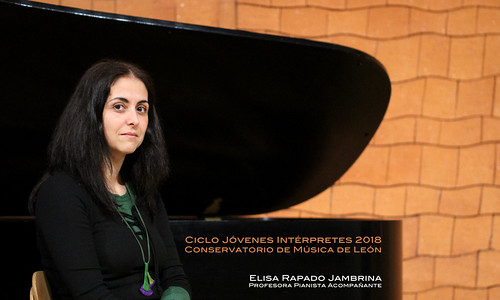 ELISA RAPADO JAMBRINA, PROFESORA PIANISTA ACOMPAÑANTE - CICLO JÓVENES INTÉRPRETES 2018 - CONSERVATORIO DE LEÓN