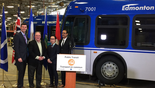 Government invests in electric buses for Edmonton commuters