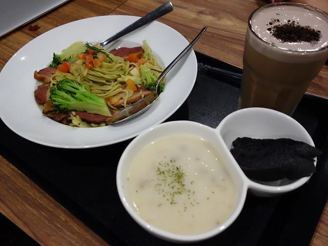 羅勒青醬鴨胸義大利麵 (NTD$189)@鬍子茶who's tea永和店