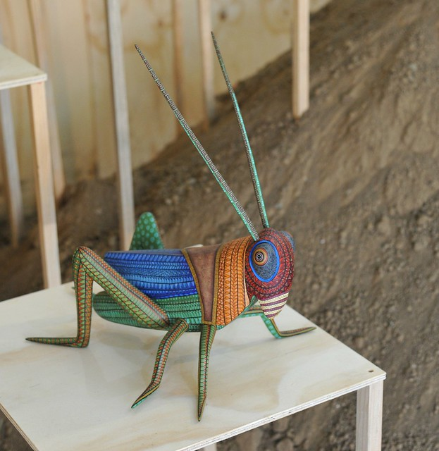 Chapulin Grasshopper Wood Carving Mexico