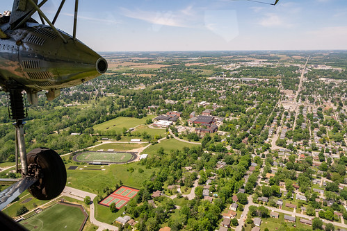 Aerial View of Earlham's Athletic Fields
