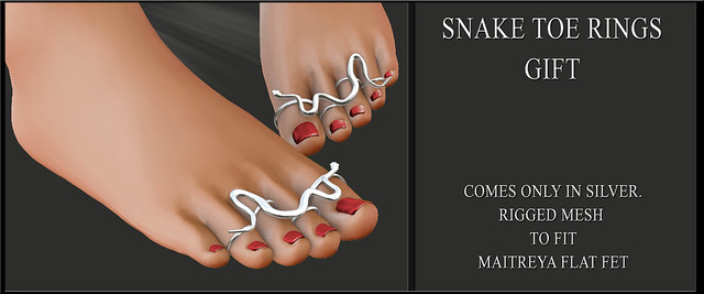Snake Toe rings - Gift @ Bodyfy event