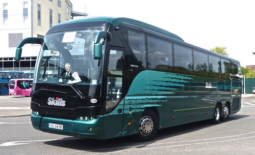 SIL 6438 'Skills Coaches'. Neoplan Tourliner Au N2216/3SHDL /1 on Dennis Basford's railsroadsrunways.blogspot.co.uk'
