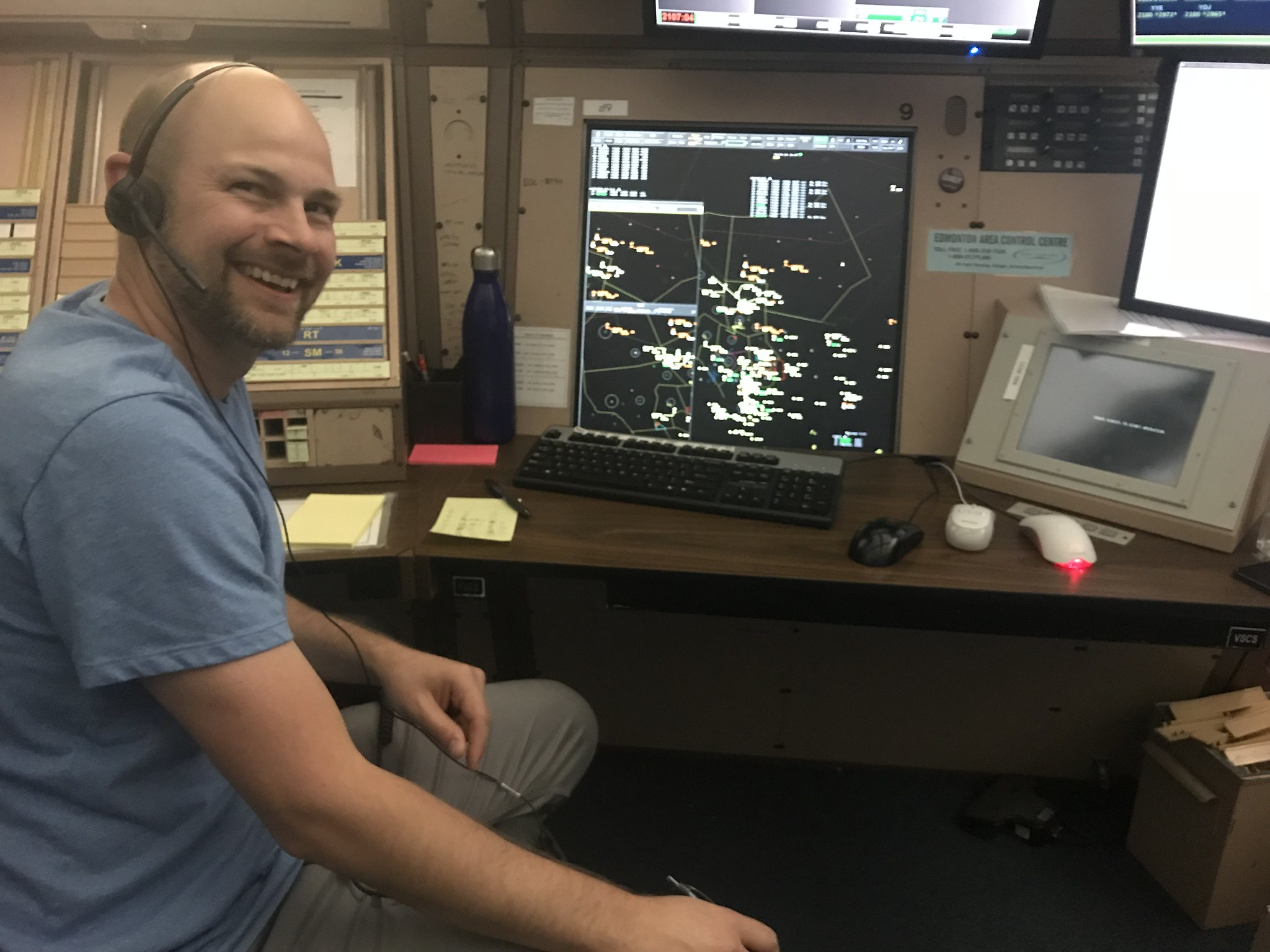 Guardians Of The North. This gentleman is part of a team at the North Sector at the Edmonton Air Route Traffic Control Centre, controlling the largest block of free airspace in the world! These folks have helped to keep me alive for portions of four decades! (USF&WS photo by Jim Bredy)