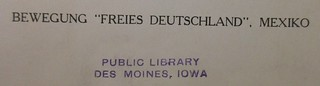 D742.G4 B48 1943: Stamp -- inked