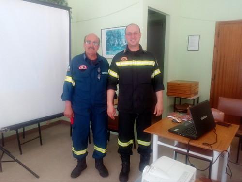 Ενημέρωση Πυροσβεστικής για μέτρα Πυρασφάλειας στο Παράρτημα ΚΑΠΗ Δράμας - 21-05-2018