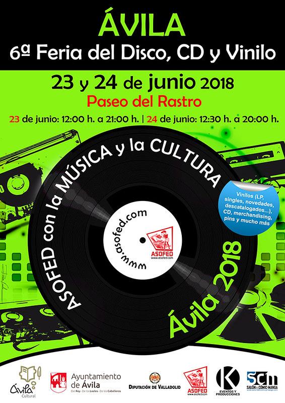 6ª Feria del Disco de Ávila. 23 y 24 de junio