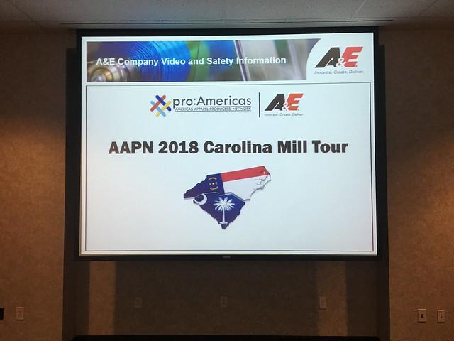 2018 Carolinas Textile Tour
