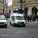 Metropolitan Police van on shout