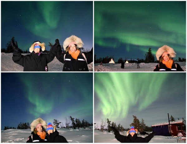 aurora lights in Yellowknife