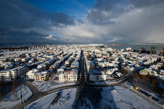 Hallgrímskirkja, Reykjavík, February 2018